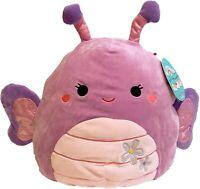 "Squishmallow Kellytoy Brenda The Purple Butterfly 8"" Plush Doll Toy Pillow Pet"