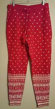 NWT VICTORIA'S SECRET Womens Heavy Knit Sleep Pants MEDIUM Red/White #87488