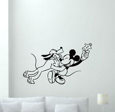 Pluto Mickey Mouse Wall Decal Disney Cartoon Nursery Baby Vinyl Sticker 136hor