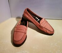 Sperry Top-Sider Seaport Penny Loafer Shoes Pink Leather Slip On, Womens 7.5 M