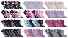 Jennifer Anderton - 6 Pack Ladies Cute Cotton Low Cut Ankle Trainer Liner Socks