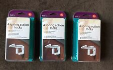 3 Bnip KidCo Spring Action Cabinet and Drawer Lock 4-pack Total Of 12
