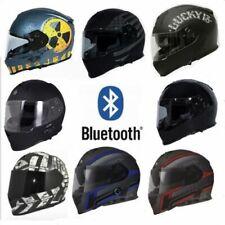 TORC T14B Mako Motorcycle ATV Helmet DOT Built In Bluetooth Full Face Dual Visor