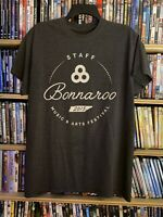 Bonnaroo Music and Arts Festival 2015 Staff Clean Vibes Mens M-L Gray T-Shirt
