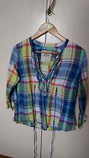 Ladies hollister 99% Cotton multi check shirts size M 10-12