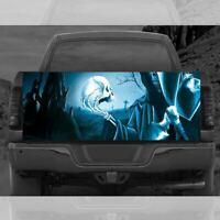 GRIM REAPER SKULL Truck Tailgate Wrap Vinyl Full Color Graphic Decal Sticker T53