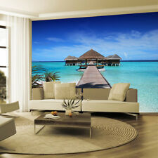 Beach Tropical Tree Sea Walk Photo Wallpaper Wall Mural Home Bedroom Decoration