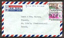 p298 - MALAYSIA Sabah 1967 2nd Class Airmail Cover to NEWFOUNDLAND Canada