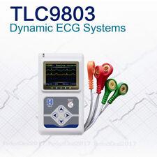 USA Seller,Newest 3 Channel Dynamic ECG Holter 12 leads EKG Analyzer Recorder+CD