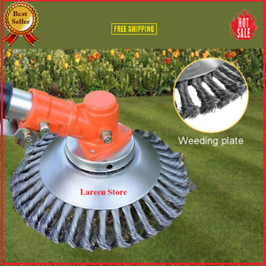 "Tough Trimmer 6"" 8"" Steel Wire Wheel Brush Grass Head Weed Clean Free Shipping✅"