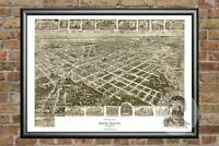 Old Map of Rocky Mount, NC from 1907 - Vintage North Carolina Art Decor