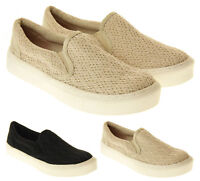 Womens Rocket Dog Canvas Pumps Ladies Slip On Plimsoll Trainers Size 3 4 5 7 8
