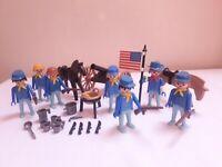 Vintage 1970s Playmobil System 3408 American Cavalry USA Yankees Set Bundle