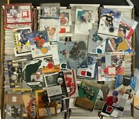 LOT OF NEW OLD HOCKEY CARDS JERSEY AUTOGRAPH MEMORABILIA CARDS - LIQUIDATION