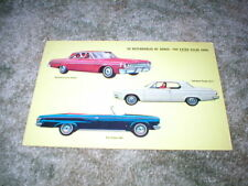 1964 Dodge Car Post card :  Dart, standard, Big Dodge 880 Convertible  vintage
