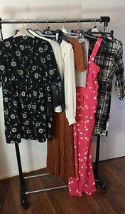 Womens Ladies Clothes Bundle Size 8 Pants Blouse Dress Jumpsuit Shirt Top H5