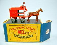 Matchbox RW 7A Milk Float mit SILBERNER Ladung und Fahrer extrem selten, top+Box
