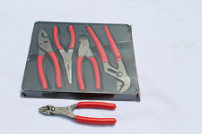 Snap On Pliers And Cutters Set 4pc Red And Wire Striper/Crimper  PL400B/PWCS7CF