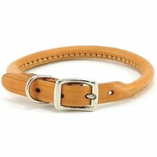 "HAMILTON 14"" x 1/2"" Rolled  Leather Dog Collar, Tan"