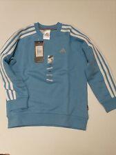 Adidas Sweatshirt 3 Stripes Crew Sweat Size 128 100% Cotton 609278