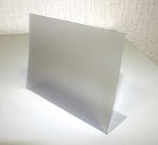 20x L-Aufsteller L-Ständer PVC DIN A8 Querformat