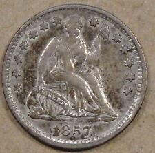 1857 Liberty Seated Half Dime Ex ANACS AU