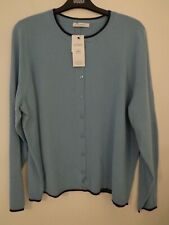 BNWT LADIES M&S CLASSIC RANGE LONG SLEEVED LIGHTWEIGHT BLUE CARDIGAN SIZE 20