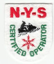 New York State Snowmobile Certified Operator Patch Ny Snowmobiling