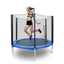 Round Trampoline 6Ft Kids Outdoor Garden Jumping Exercise w/ Safety Net Usa