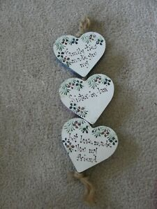 Brand New Decorative//Craft//Gift *FREE P/&P* HANGING HEART SHAPED SLATE BOARD