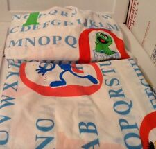 Sesame Street Twin Comforter & 2 Pc. Sheet Set Flat And Fitted Sheets Vintage