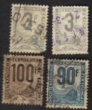 France 1944-46 Parcel Post Stamps locomotive Lot Of 4 Used