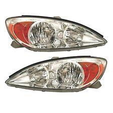 Toyota Camry 02-04 Right Rh & Left Lh Headlights Headlampss Le/Xle Pair Set