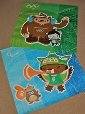 2 x Vancouver 2010 Winter Olympic Paralympic Original MASCOTS Poster RARE