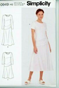 Misses Knit Dress Simplicity R10949 Size 6 - 14 Uncut