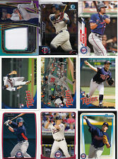 A LOT OF (23) TOPPS PANINI MINNESOTA TWINS ROOKIE JERSEY/99 & BASE ROOKIE CARDS