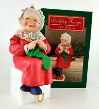 "Hallmark Stocking Hanger Mrs Santa Claus Christmas Vintage 6"" Ceramic"