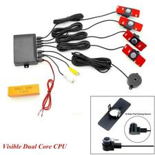 Visible Car Video Parking Reverse Backup Radar Display Alarm System Flat Sensors