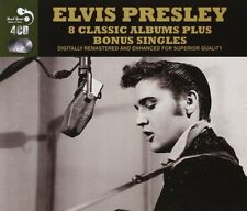 ELVIS PRESLEY 8 Classic Albums + Bonus Singles 4 CD box set 127 tracks *UK Ship*