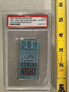 1967 Chicago White Sox Minnesota Twins PSA Ticket Stub Oliva HR #88 Nettles