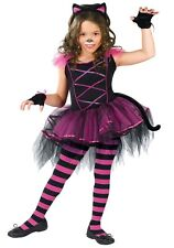 """Child """"Caterina"""" Cute Black Cat Dress Costume Size Small 4-6 (missing mitts)"""