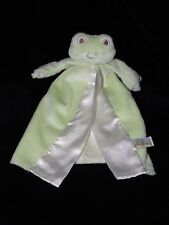 BUNNIES BY THE BAY FROG COMFORTER SOFT TOY GREEN BLANKIE DOUDOU