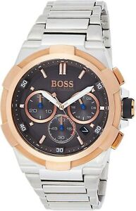 NEW HUGO BOSS HB 1513362 SILVER ROSE GOLD SUPERNOVA WATCH - FAST DELIVERY
