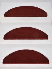 15er Set Stufenmatten Treppenmatten Treppenschoner LYON Rot ca. 65 x 22 x 4 cm