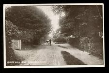 Sussex CROWBOROUGH Lord's Well Lane postman? and bike PPC pub. J Booker c1920