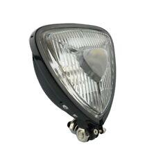 Black Bottom Mount Motorcycle Motorbike Headlight Triangle Headlamp Vintage