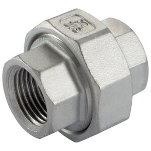 """Stainless Steel Pipe Union Pipe Joiner  Threaded BSP x BSP Grade 316 1/8"""" To 2"""""""