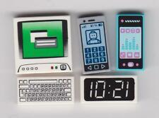 LEGO DIGITAL GADGETS ~ Smart Phone Cell Phone PC Computer Keyboard & Clock Tiles