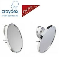 Croydex Anti-Fog Anti Fog Mirror Rust Free Stick 'N' Lock Bathroom Swivel Mirror