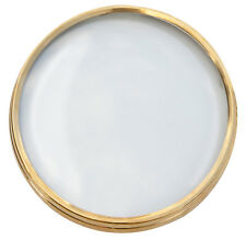 New Solid Brass Clock Bezel with Glass and Hinge Installed - Choose from 5 Sizes